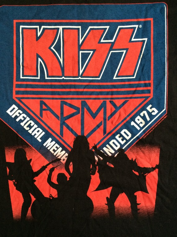 KISS ARMY Official Member T shirt Vintage Band Tee