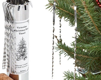 victorian tinsel 50 pieces tin christmas tree icicles - Icicles For Christmas Tree