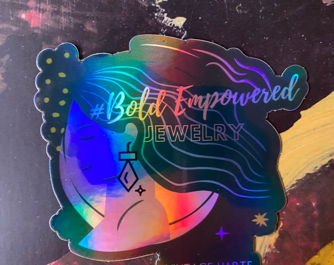 Bold Empowered Jewelry sticker