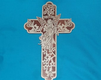 Mothers Day Wooden Scroll Saw Cross