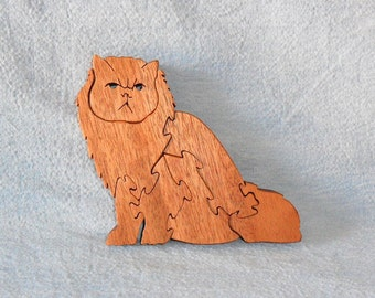 Persian Cat (Sitting) Wooden Puzzle