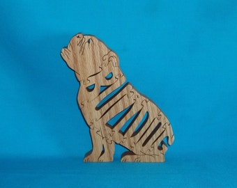 Bulldog (Sitting) Wooden Scroll Saw Puzzle