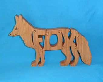 Fox Wooden Puzzle