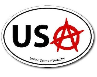 United States of Anarchy Vinyl Bumper Sticker