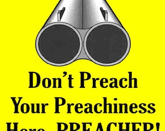 Don't Preach Soap Box Gun Vinyl Bumper Sticker