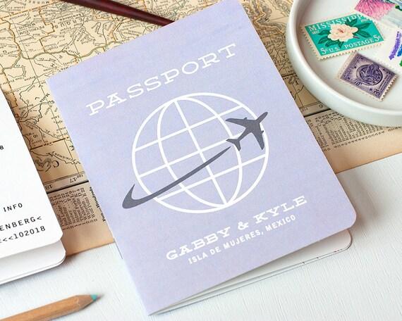 Destination Wedding Invitations Etsy: Passport Multi-Page Wedding Invitation Destination Wedding