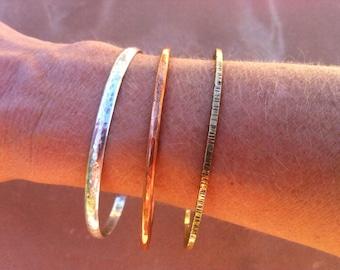 Silver, Copper, Brass Bangles