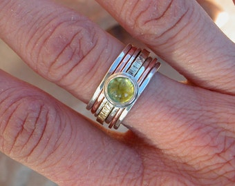 Peridot Stack Ring
