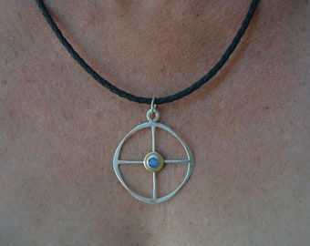 Opal Medicine Wheel Pendant
