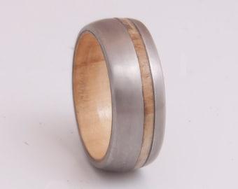 olive ring mens wedding band titanium wood ring alternative engagement anniversary gift size 3 to 16 titanium wood ring
