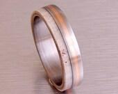 antler ring titanium ring titanium wedding band deer antler band men ring woman ring copper ilay