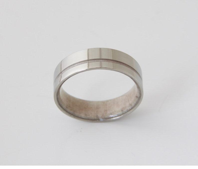 antler ring titanium ring titanium wedding band deer antler band men ring woman ring
