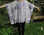 Natural Tie Dye Spine Caftan Tunic Dress