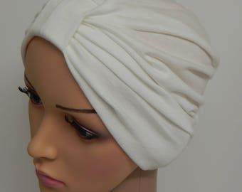 Cream chemo turban hat d21133b9d1b5
