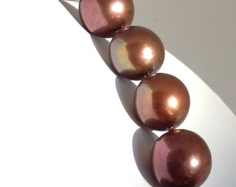 Large chocolate freshwater pearl  necklace