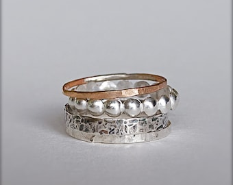 Statement Rings-Silver Rings-Unique Stacking Rings-Sterling Silver-Knuckle Rings