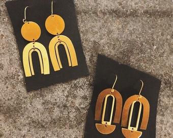RESERVED - Bronze Earrings
