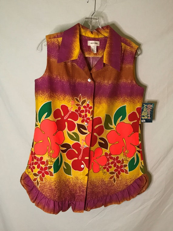 Vintage 1960s Women's Hawaiian Cabana 2 pc Set Tro