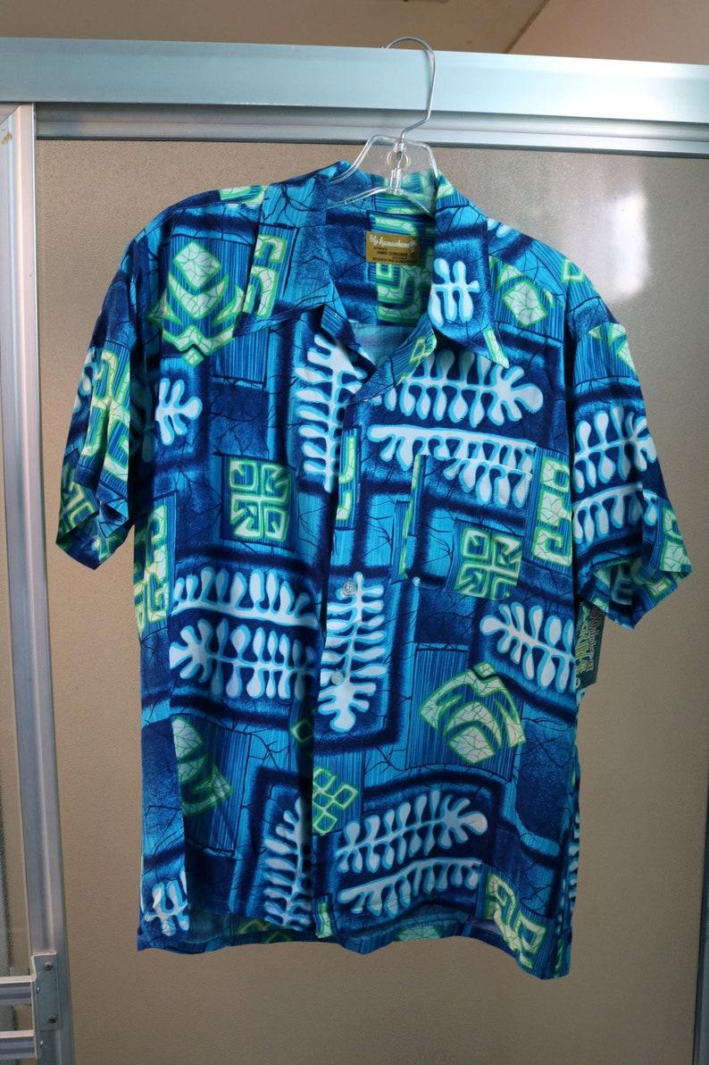 98ddeac0 Vintage 1960s 1950s Mens Rayon Hawaiian Shirt Kamawhanee Large | Etsy