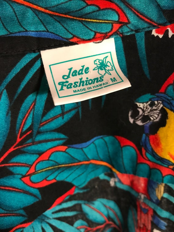 Vintage Mens Cabana Set Hawaiian 1980s Shirt Shor… - image 6