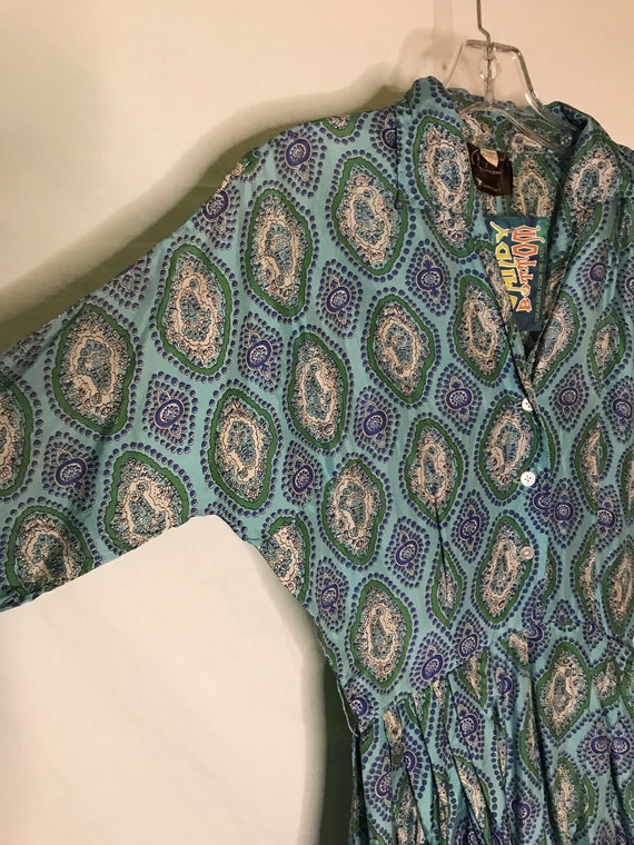 Vintage 1950s Alfred Shaheen Womens Dress Silk 19… - image 7