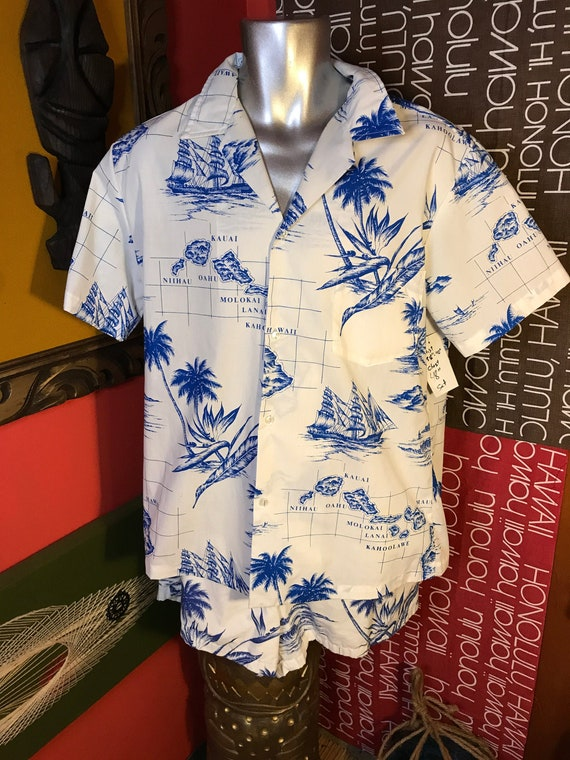 Vintage Mens Hawaiian Cabana XL Set 1970s RAI NANI