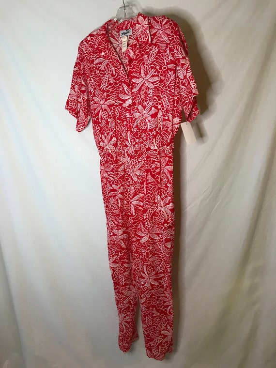 NWT Vintage 1980s Womens Tropical Jumpsuit Hawaiia