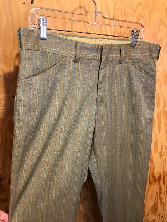 Vintage 1960s LEVIS Mens Slacks Striped STA-PREST