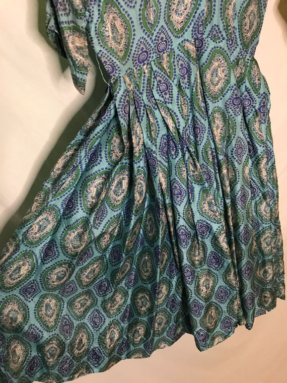 Vintage 1950s Alfred Shaheen Womens Dress Silk 19… - image 3