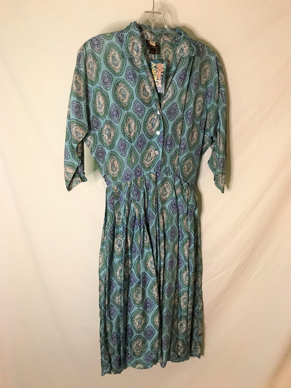 Vintage 1950s Alfred Shaheen Womens Dress Silk 19… - image 1