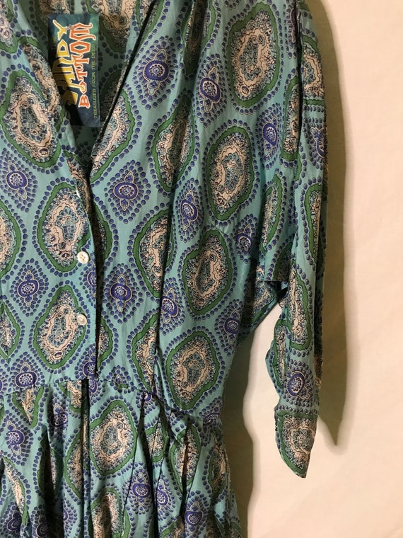 Vintage 1950s Alfred Shaheen Womens Dress Silk 19… - image 2