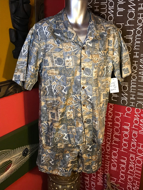 Vintage Mens XL Cabana Set 1980s 1990s Hawaiian Sh