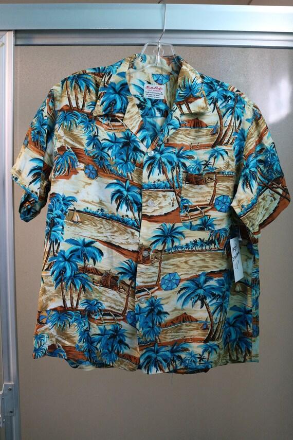 77651d69 Vintage 1950s Mens Hawaiian Rayon Shirt South Pacific Dry | Etsy