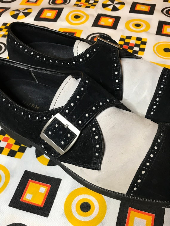 Vintage Mens Derby Shoes 11 Hush Puppies Wingtip S