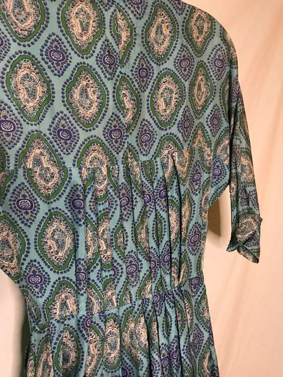 Vintage 1950s Alfred Shaheen Womens Dress Silk 19… - image 5