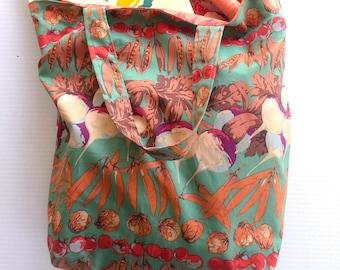 Market bag,  farmers market bag, CSA bag, vegetable bag, grocery bag, library bag, book bag, tote bag, produce bag, colorful market bag