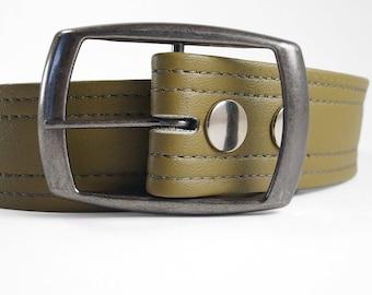 Plain Black Vegan Belt All Sizes in Stock Vegan Belts Made