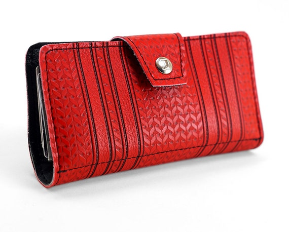 Blue Chevron Womens Ladies Quilted Trifold Wallet Clutch Long Checkbook Zipper