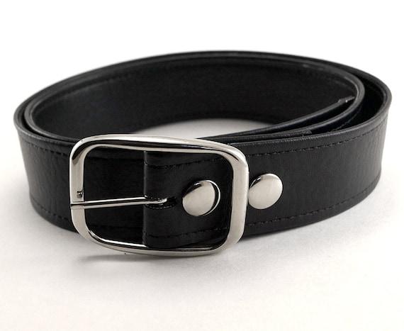 Plain Black Vegan Belt All Sizes in Stock Vegan Belts Made in USA
