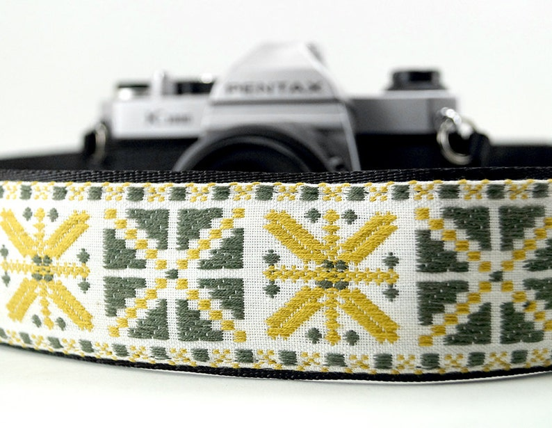 Aztex X Mustard Sun Golden Yellow Woven Camera Strap