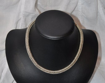 Sterling Silver Box Chain Maille Choker