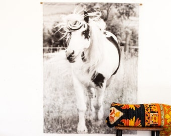 Horse Poster print Fabric Wall Hanging Wall decor for Children