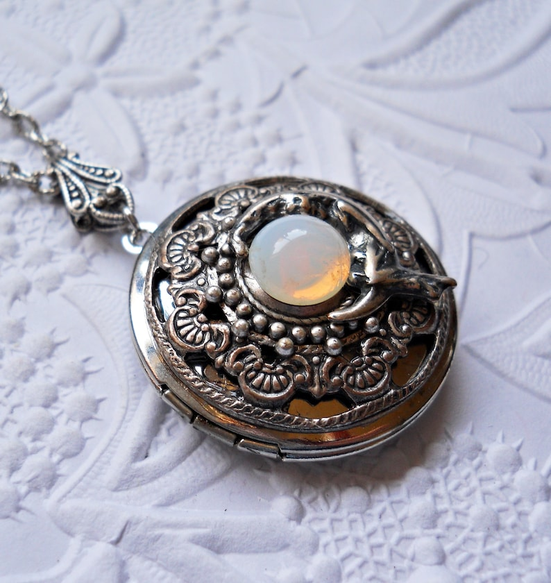 NEW Luna Goddess Locket Moon Goddess Locket Silver Moon Locket Moon Locket