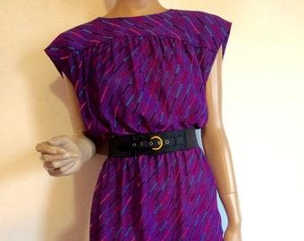 Purple Striped Dress Etsy