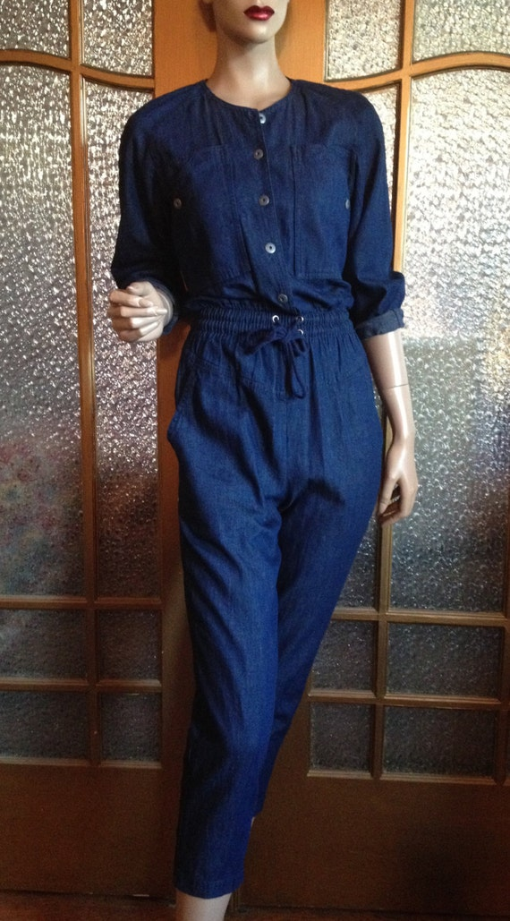 80s Denim Jumpsuit