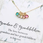 Birthstone Necklace | Grandmother Necklace | Crystal Birthstone Necklace | Mother Necklace | Children's Birthstone Necklace | Grandma Gift