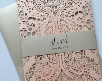 Finest wedding invitation boutique on etsy by lavenderpaperie1 lasercut laser cut wedding invitation lattice deposit filmwisefo