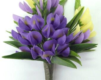 Handmade Polymer Clay Supplies Bluebonnet for Bouquet and Handmade Gifts