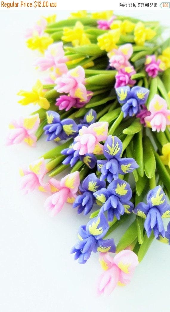 Fuentes De Flores Miniatura Iris Polimero Arcilla Para Sistema Etsy