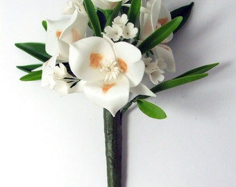 Handmade Polymer Clay Supplies Sego Lily for Bouquet and Handmade Gifts